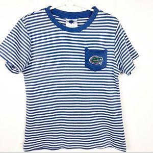 Creative Knitwear | Toddler Stripe FL Gators Top